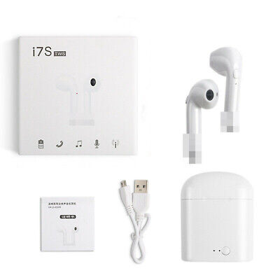 I7S Twins Wireless Earphone Bluetooth Airpods Sports Earbud Headphones White TWS