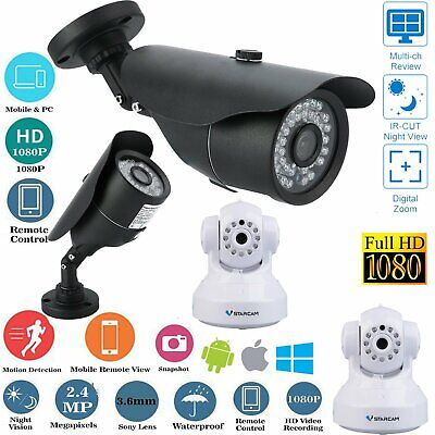 Wireless 1080P HD WIFI IP Network Camera CCTV Outdoor Security IR Night Vision