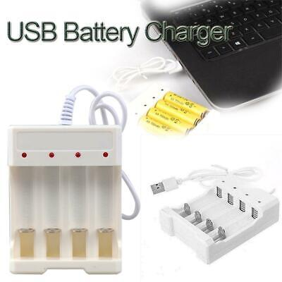USB AA AAA Battery Universal Rechargeable Four Slots Battery Fast Charger Tester