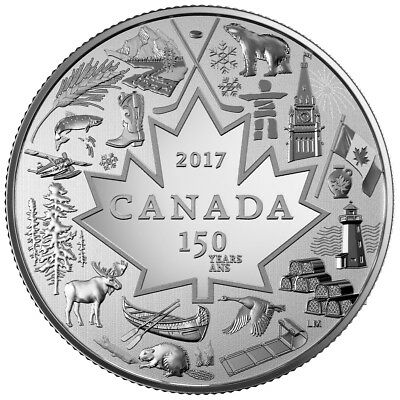 CANADA 3 Dollars 2017 Silver Specimen '150th Anniversary - Heart of our Nation'
