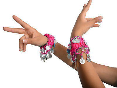 9b9322ee4 Arm Bands Wrist Band Silver Coin Mix Assorted Color 10 Pc for ATS Belly  Dance