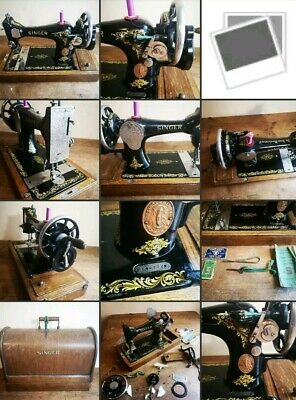 Antique Singer Sewing Machine Model 128K With Wonderful Decals