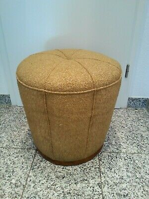 seltener Jindrich Halaba ?  ART DECO  POLSTER HOCKER um 1940 Top Alterszustand
