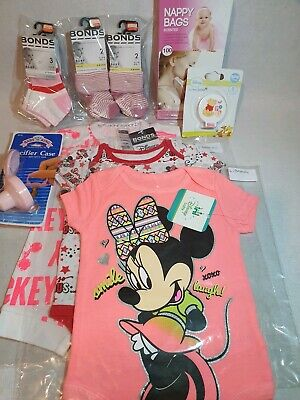 Disney One Piece Baby Suit Set from 0-3. 3-6. And 6-9 months. With bonds socks