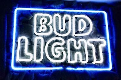 "Budweiser Beer Bar Vintage Club Man Caves Miller Nfl Sign 12""X8"" Neon Light Bud"