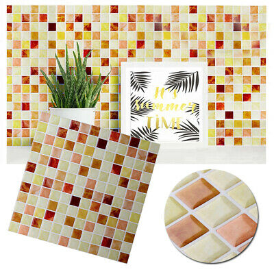 Tile Wall Sticker Vinyl Peel And Stick Self Adhesive Backsplash Mosaic 10*10inch