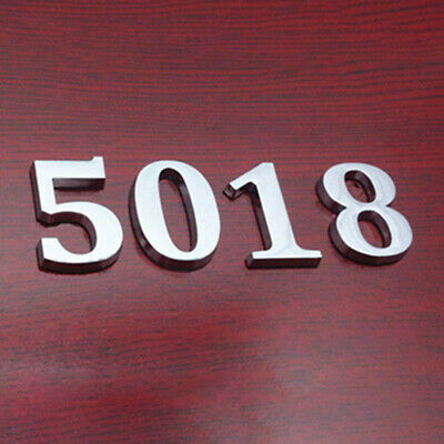 CHROME DOOR NUMBERS House Numerals Home Self Adhesive Digit plaques Sign