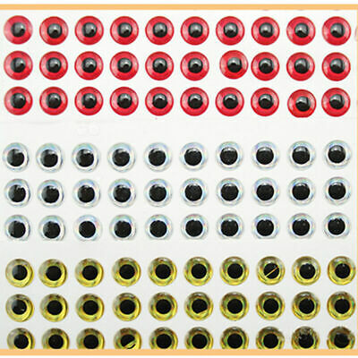 100PCS 3D Fish Eyes Holographic Lure Eyes For FlyTying Jigs Crafts Dolls 8m S2U0