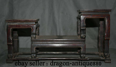 """16"""" Unique Old Chinese Red Wood Carved Scholar Book Stand Bookshelf Bookrack"""