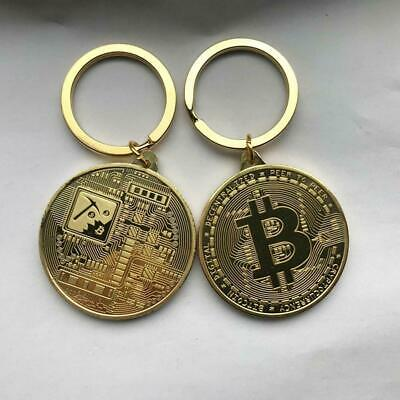 Bitcoin Gold Medal Key Ring Chain Fob Keychain Keyring s. S0J0