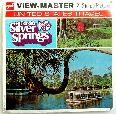 3x VIEW MASTER REEL / FLORIDA´S SILVER SPRINGS / UNITED STATES TRAVEL / USA A962