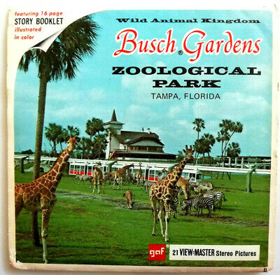 3x VIEW MASTER REEL / BUSCH GARDENS / ZOOLOGICAL PARK / UNITED STATES TRAVEL
