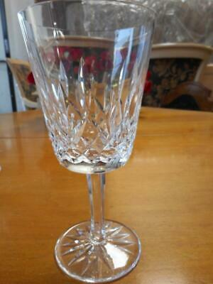 "4 Waterford Crystal LISMORE Wine Hock Glasses 5 3/4"" tall"