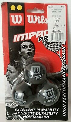 ⭐️ Wilson Staff Double Yellow DOT WSF Approved Squash Balls - Pack of 3