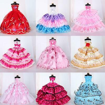 10 Pcs Doll Wedding Dress Skirt Barbie Clothes Style Random Does Not Repeat