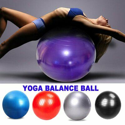 Yoga Ball With Air Pump Anti Burst Exercise Balance Workout Stability 65/85 CM
