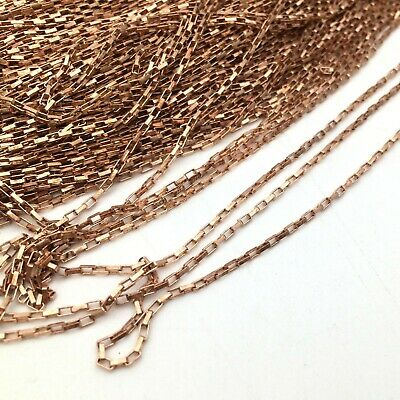 20/50 Yards Raw Brass Based Long Box Chain Soldered Link 1.2/1.5/mm Wide