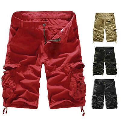 Men's Shorts Casual Camouflage Trouser Loose Cargo Pants Beach Hot Army Combat