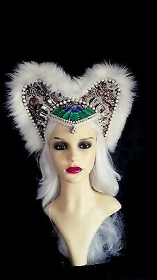Festival Fantasy Elizabethan queen style  fancy dress photo shoot headdress