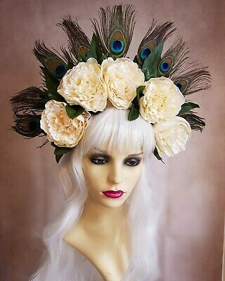 Festival Fantasy feather flower headdress