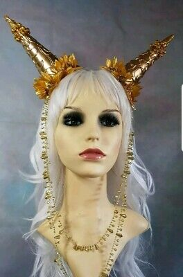 Festival gold headdress
