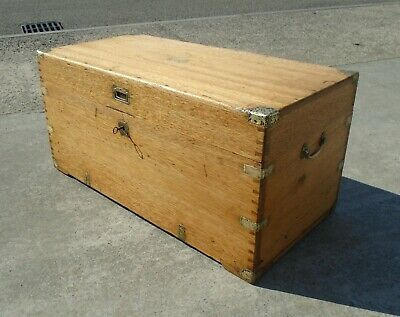 Antique Military Campaign Trunk Chest    Repolished    Delivery Available