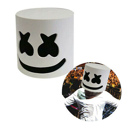 Cosplay Marshmello DJ Mask Full Head Helmet Music Club Bar Mask Prop Accessories