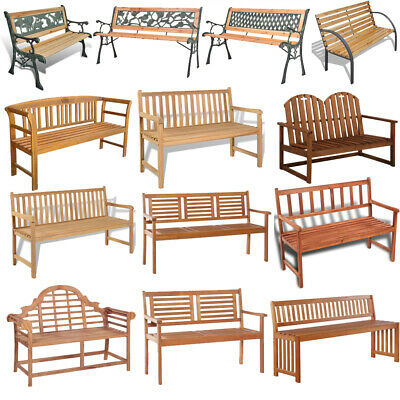 2 or 3 Seater Hardwood Garden Bench Outdoor Patio Wood Furniture Weather Treated