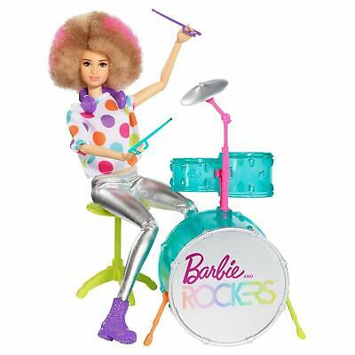 Barbie and the Rockers Doll & Drum Set-You Can Be Anything Series NEW-FREE SHIPP
