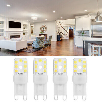 4X G9 4W LED Ampoule Capsule Dimmable Remplacer Lampe AC230V Super LD1830