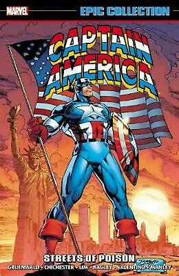 Captain America Epic Collection: Streets Of Poison by Mark Gruenwald (English) P