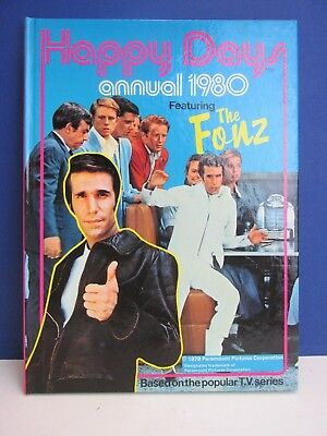 vintage HAPPY DAYS the fonz ANNUAL BOOK 1980 hardback TV UNCLIPPED 21Y