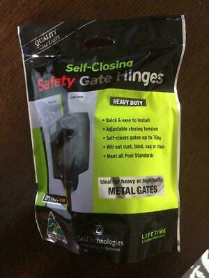 D & D Heavy Duty Self Closing Safety Gate Hinges For Metal Gates TCHD1AS3RB New