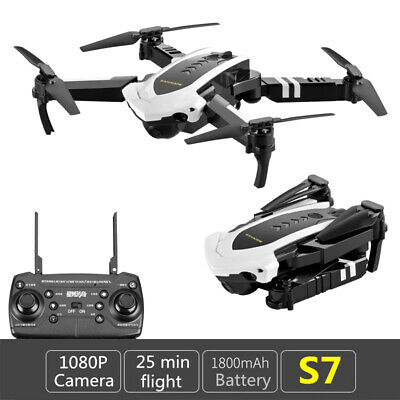 Cool Quadcopter Drone S7 5MP 1080P With HD Selfie Camera WiFi FPV Foldable