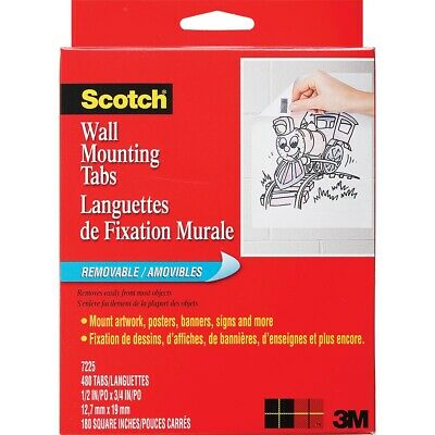 Scotch Removable Wall Mounting Tabs  - 480-Count