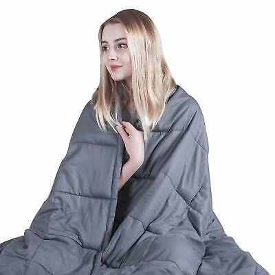 48x78''FullSize17lbs Weighted Blanket Adult Sensory Reduce Sleep Anxiety Gravity