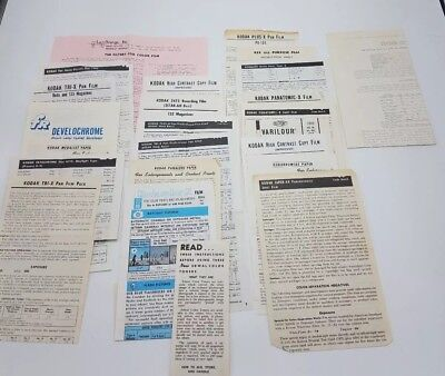 25 Pc Vintage Film Toner and Photo Paper Filter Instructions and Product Info