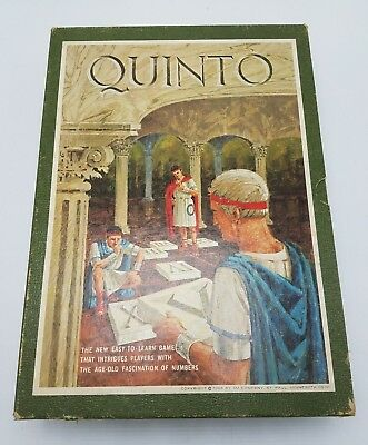 Vintage Quinto 3M Bookshelf Game - With all game pieces - 1964