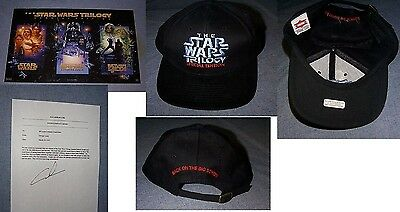 Original STAR WARS TRILOGY Employee Poster Hat & Letter from George Lucas