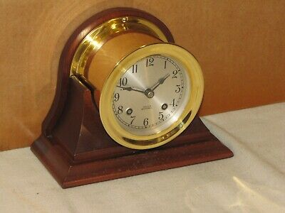 Chelsea Antique Ships Bell Clock~3 3/4 In Dial~1952~Restored