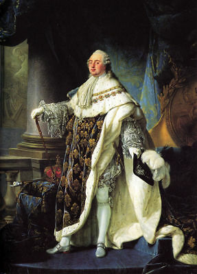 "perfect 24x36 oil painting handpainted on canvas"" Portrait of Louis XVI ""@13076"