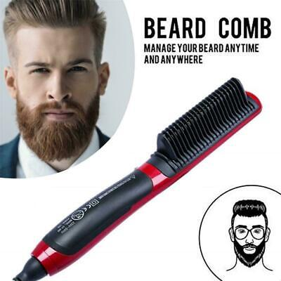 Lady Mens Quick Beard Straightener Multifunctional Hair Comb Curler Show w