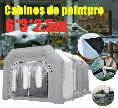 Inflatable Car Spray Paint Booth Custom Premium PVC Made 6*3*2.5m flexible size