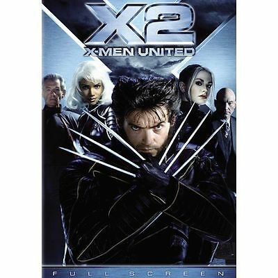 X2: X-Men United (DVD, 2003, 2-Disc Set, FULL SCREEN ) GOOD