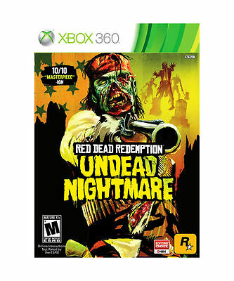 Red Dead Redemption: Undead Nightmare (Microsoft Xbox 360, 2010) DISC IS MINT