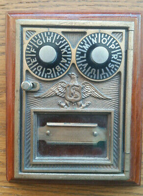 Vintage Corbin Brass Post Office Mail Box Door with Eagle