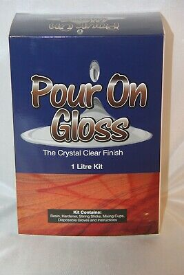 Pour on Gloss. Premium epoxy pour on finish. Thickened Epoxy.