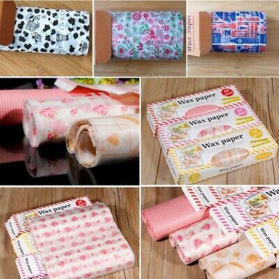 50Pcs Fast Food Wax Paper Wrapping Paper Candy Bread Hambur Packing Wrap