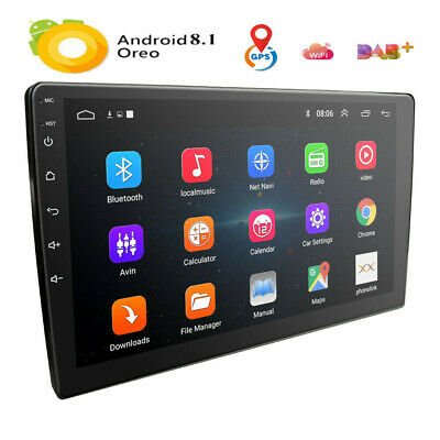 """Android 8.1 Car Stereo Radio Double 2 Din GPS WiFi BT Mirror Link OBD 9"""" inch AU"""