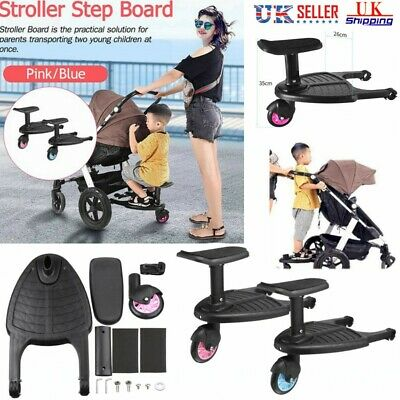 Portable Kids Safety Comfort Wheeled Pushchair /& Stroller Step Board Up To 25Kg